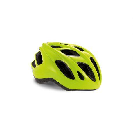 Cykelhjelm MET Helmet Active/Crossover Espresso - Safety Yellow/Glossy - Cykelhjelm