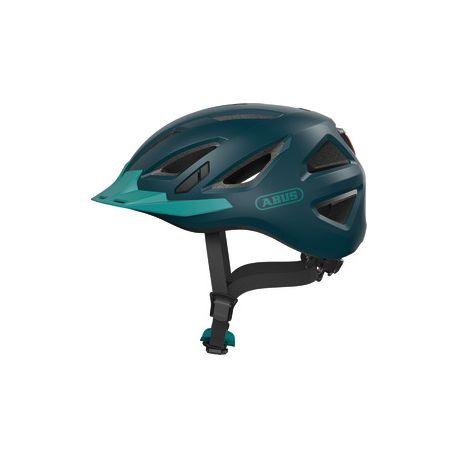 Cykelhjelm Abus Urban-I 3.0 core green -  cykelhjelm m. LED-baglygte