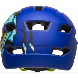 Bell Mat Blue T-Rex - Sidetrack Cykelhjelm Børn.