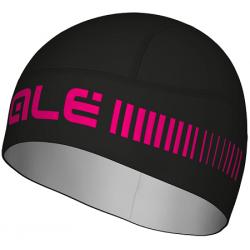 Alé hjelmhue sort/pink