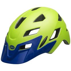 Bell Sidetrack Cykelhjelm Junior, mat lysegrøn/blå