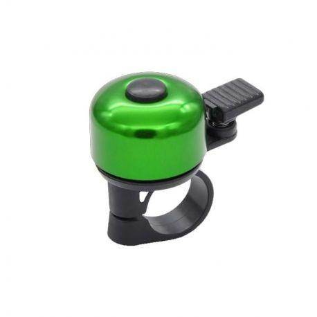 Køb Ringeklokke mini grøn med fjederhammer