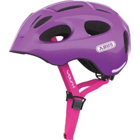 Cykelhjelm Sparkling Purple Youn-I juniorhjelm fra Abus