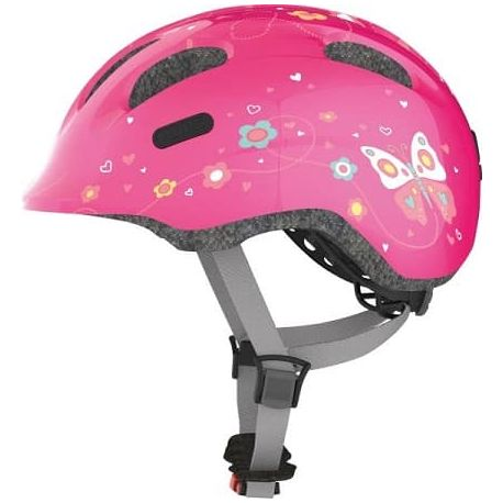 Cykelhjelm Pink Butterfly Smiley 2.0 børnehjelm fra Abus