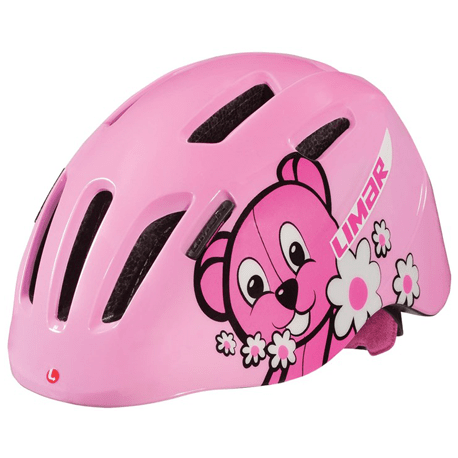 Cykelhjelm Pink Teddy Bear Limar 224 børnehjelm