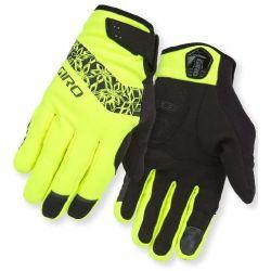 Neongul/sort vinter handsker til kvinder fra Giro