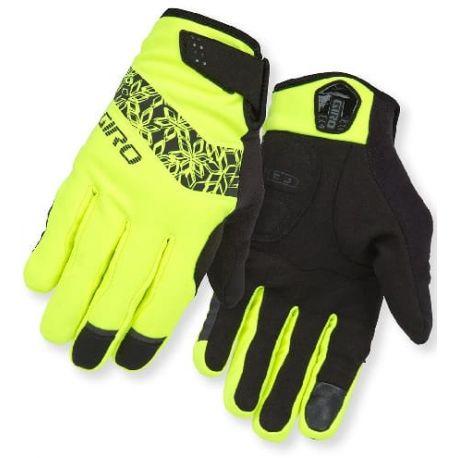 Cykelhjelm Neongul/sort vinter handsker til kvinder fra Giro