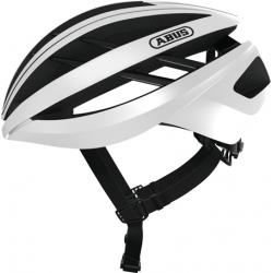 Polar White Aventor cykelhjelm fra Abus