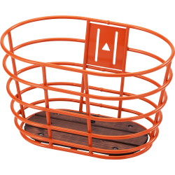 Orange Norden alu cykelkurv m/træbund