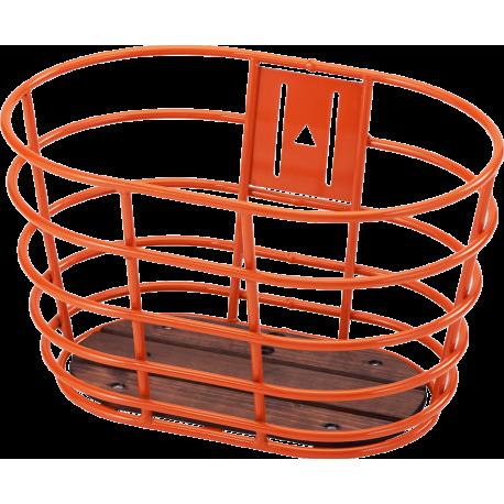 Orange Norden alu cykelkurv m/træbund 20-24