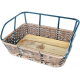 Sort/Brun Avenue plast rattan cykelkurv m/sort alu top