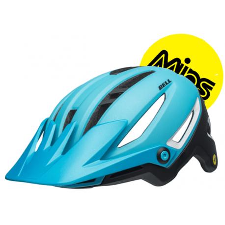 Cykelhjelm Sixer Mips cykelhjelm fra Bell, lys blå/sort