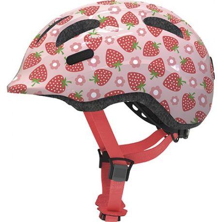 Cykelhjelm Rose strawberry Smiley 2.1 børnehjelm fra Abus
