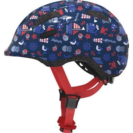 Cykelhjelm Blue maritim Smiley 2.1 børnehjelm fra Abus