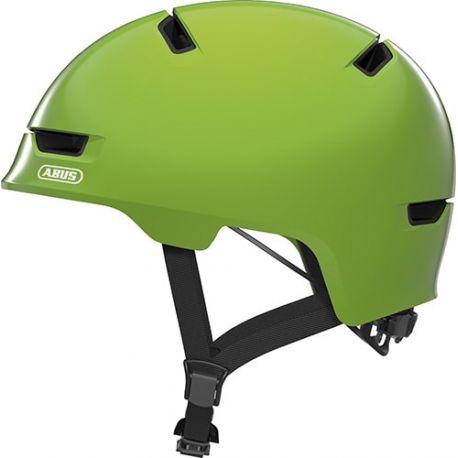 Cykelhjelm Shiny green Scraper Kid 3.0 børnehjelm fra Abus