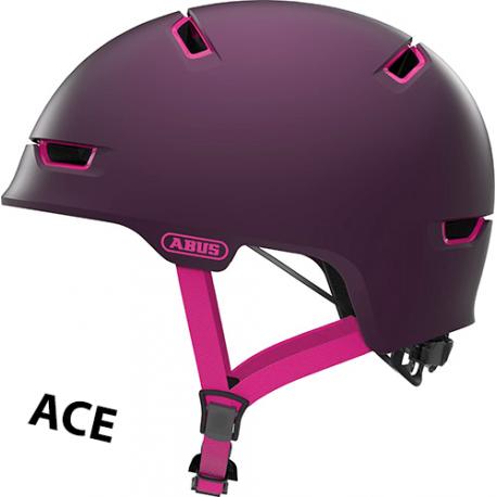 Cykelhjelm Magenta Berry Scraper ACE 3.0 cykelhjelm fra abus