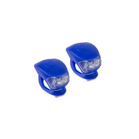 Blå M-wave LED cykellygtesæt