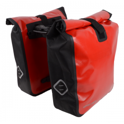 Atran Velo Travel vandtæt bagagetaske AVS rød/sort