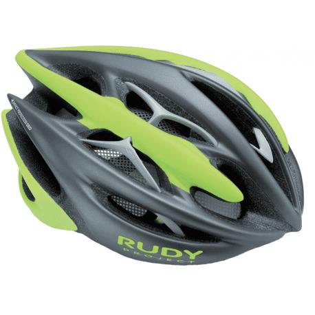 Cykelhjelm Rudy Project Sterling + cykelhjelm, mat grå/lime