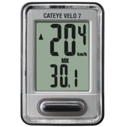Cateye Velo 7 VL-520 cykelcomputer, grå