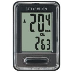 Cateye Velo 9 VL-520 cykelcomputer, sort