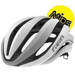 Image of   Giro Aether Mips cykelhjelm, mat hvid/sølv