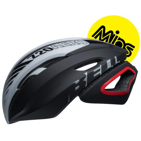 Bell Z20 Aero Mips cykelhjelm, sort/hvid/crimson | Hjelme