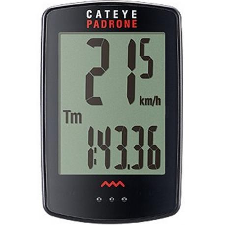 Cateye padrone trådløs cykelcomputer m. stort display, sort | Køb her | Cycle computers