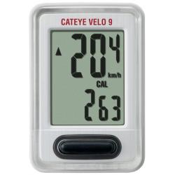 Cateye Velo 9 VL-820 cykelcomputer, hvid