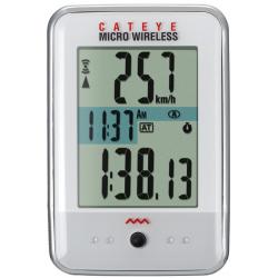 Cateye Micro CC-200W trådløs cykelcomputer, hvid