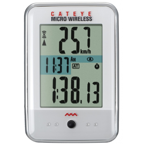Cateye Micro CC-200W trådløs cykelcomputer, hvid | cykelcomputer