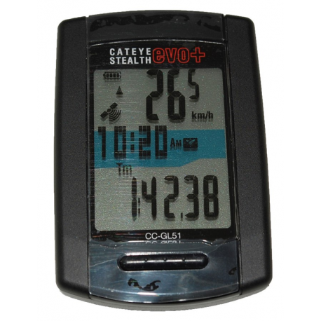 Cykelhjelm Cateye Stelth EVO+ gps CC-GL51 trådløs cykelcomputer, sort