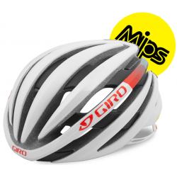 Giro Ember Mips cykelhjelm, Mat hvid/Turkis/Vermillion
