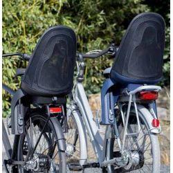 Qibbel Air cykelstol til bagagebærer montering, denim blå