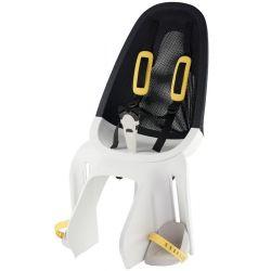Qibbel Air cykelstol til bagagebærer montering, hvid/smoke