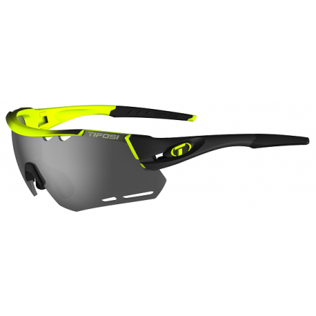 Cykelhjelm Tifosi Alliant race neon cykelbrille med Smoke/rød/klar linser
