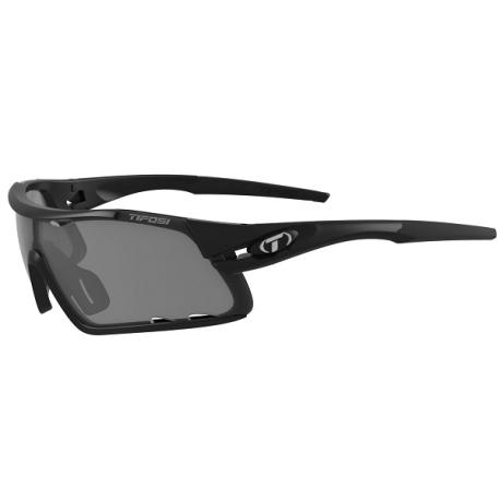 Køb Tifosi mat sorte Davost cykelbriller med Smoke/red/clear linser