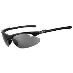 Image of   Tifosi Tyrant 2.0 mat sort cykelbrille med smoke/rød/klar linser