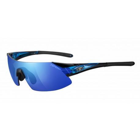 Cykelhjelm Tifosi Podium XC blå Clarion cykelbrille med blå/rød/klar linser