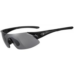 Tifosi Podium XC mat sort cykelbrille med smokerød/klar linser