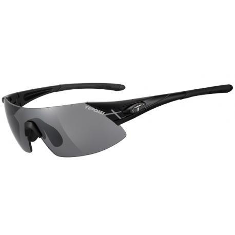 Cykelhjelm Tifosi Podium XC mat sort cykelbrille med smokerød/klar linser