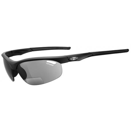 Cykelhjelm Tifosi Veloce mat sort cykelbrille med læsefelt + 2.5