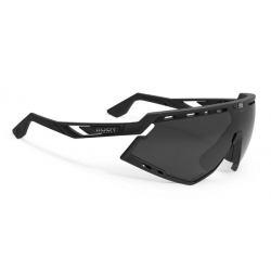 Rudy Project Defender cykelbrille, sort m. sort linse