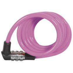 Abus 1150 Kids spirallås m. kode, pink