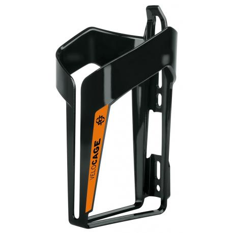 Cykelhjelm Sks Velocage flaskeholder, glossy sort/orange