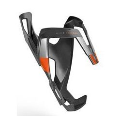Elite Vico Carbon flaskeholder, carbon mat/orange graphic