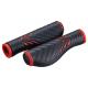Bike Attitude Ergonomisk Kraton cykelhåndtag med gel, sort/rød - 130 mm