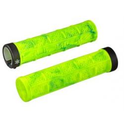 Supacaz Grizips cykelhåndtag, Neon gul/neon blå mønster