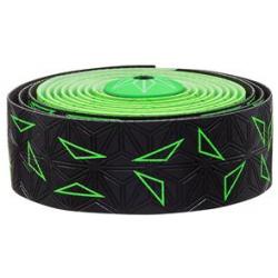 Fizik Sticky Kush Star Fade styrbånd, sort/neon grøn