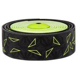 Fizik Sticky Kush Star Fade styrbånd, sort/neon gul